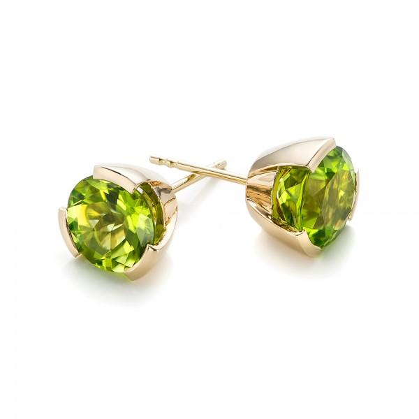 Fine Jewelry Genuine Peridot 14K White Gold Square Step-Cut Earrings 8V1hm