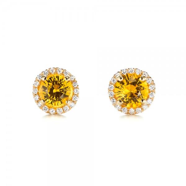 Blue Sapphire And Diamond Drop Earrings 103423 Seattle