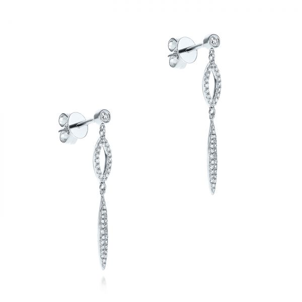 Dangling Diamond Earrings - Front View -  105942