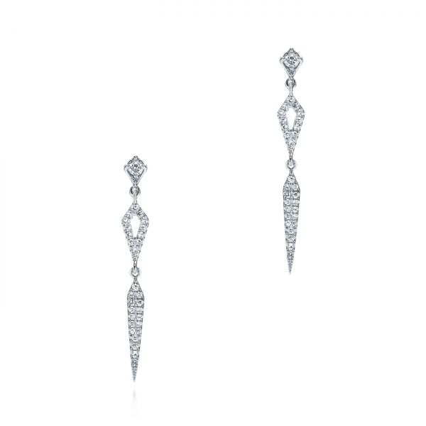 Dangling Diamond Earrings - Image