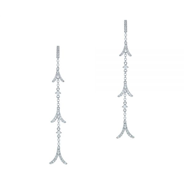 Diamond Arrow Drop Earrings - Image