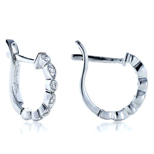 Diamond Earrings - Laying View