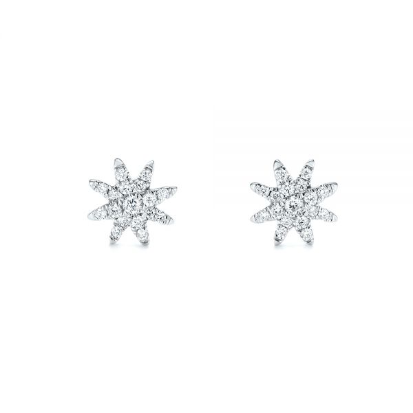 Diamond Earrings - Front View -  103693 - Thumbnail