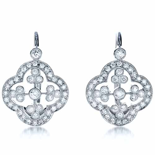 Diamond Filigree Earrings