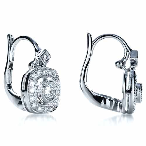 Diamond Filigree Earrings - Laying View
