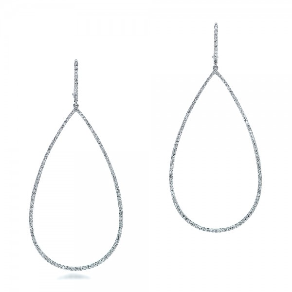 Pear-Shaped Diamond Drop Earrings