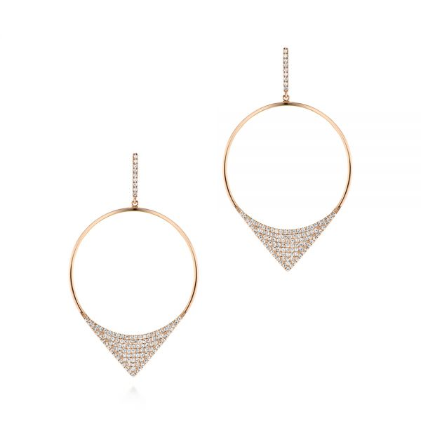 Diamond Pave Drop Earrings - Image