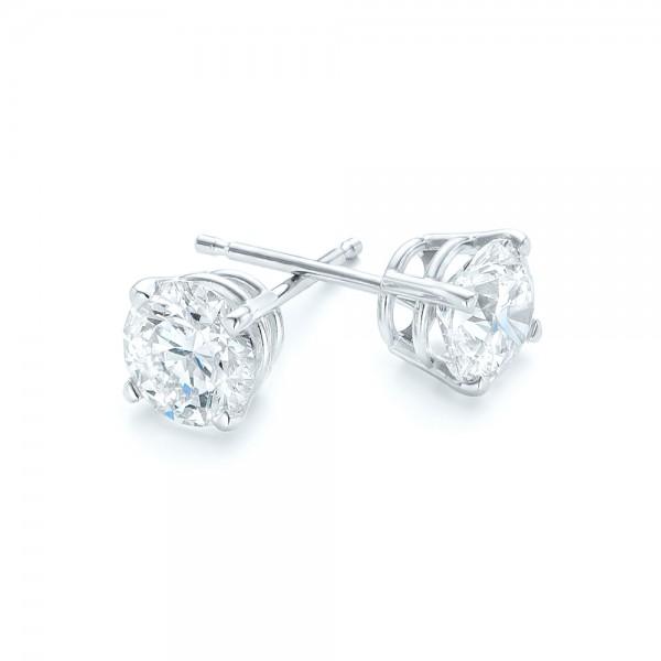 Diamond Stud Earrings - Laying View