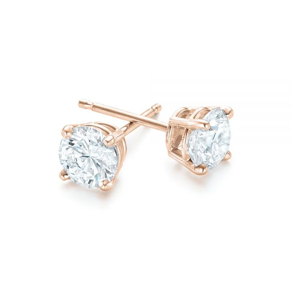 14k Rose Gold 14k Rose Gold Diamond Stud Earrings - Front View -  102567