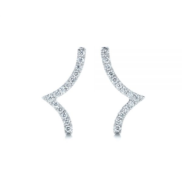 Diamond Stud Earrings - Image