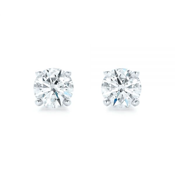 Diamond Stud Earrings - Top View -