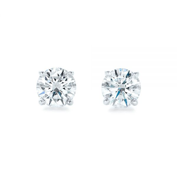 14K Diamond Stud Earrings - Top View -  102567 - Thumbnail