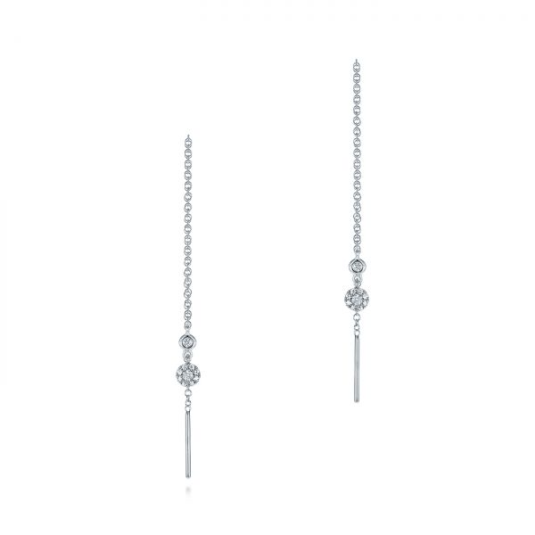 Diamond Threader Earrings - Image