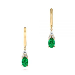Emerald and Diamond Earrings - Image