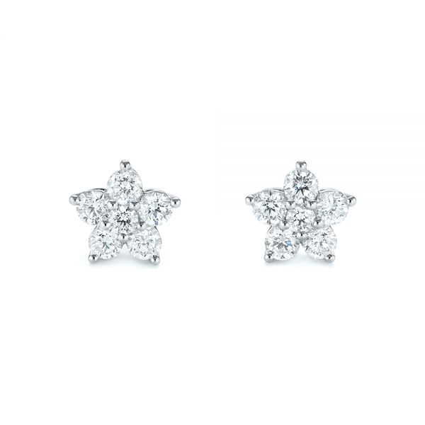 Floral Diamond Earrings - Image