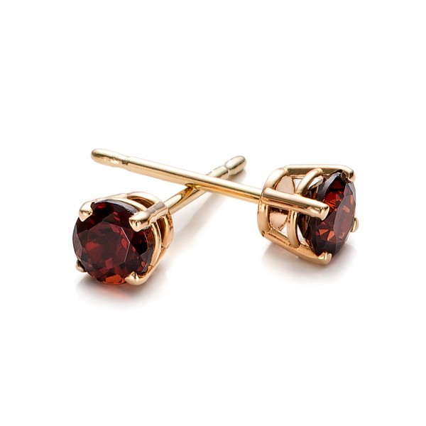 garnet stud earrings 100937 bellevue seattle joseph