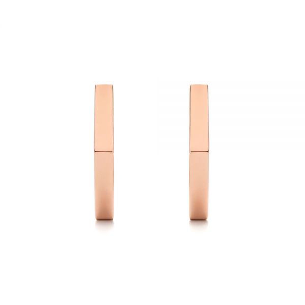 Geometric Hexagon Hoop Earrings - Image