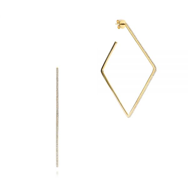 Geometric Square Diamond Hoops - Image
