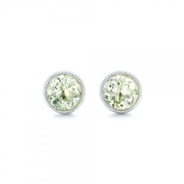 Green Quartz Stud Earrings