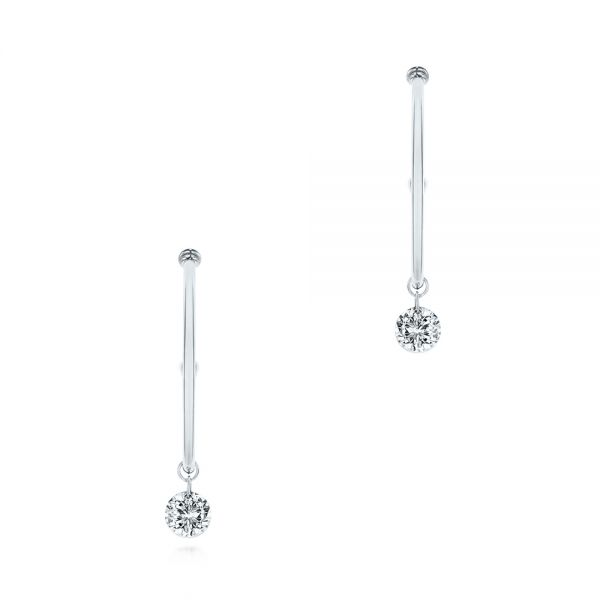 Invisible Set Diamond Drop Earrings - Image