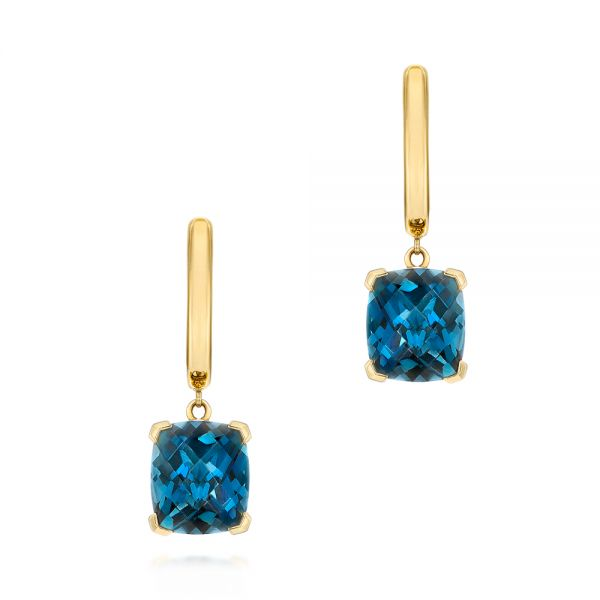 London Blue Topaz Huggies - Image