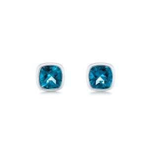 London Blue Topaz Stud Earrings - Image