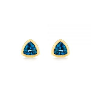 London Blue Topaz Trillion Stud Earrings - Image