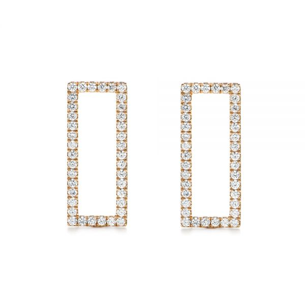 Modern Diamond Earrings - Image
