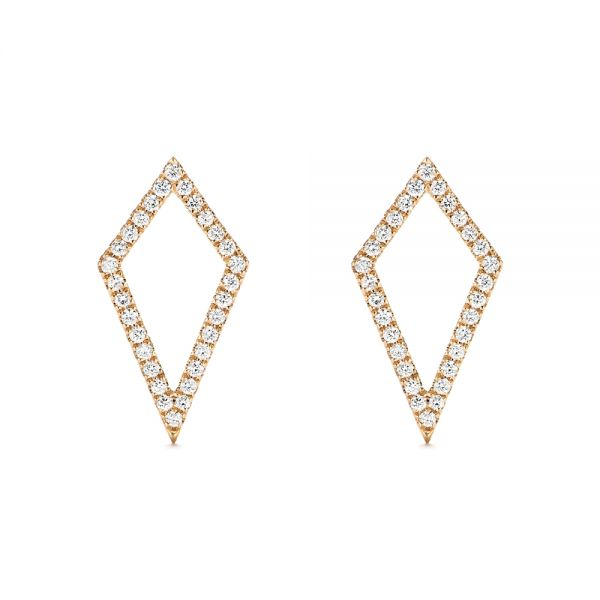 Modern Kite-Shaped Diamond Earrings - Image