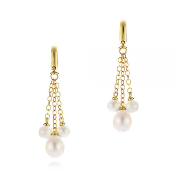 Pearl Drop Earrings - Image