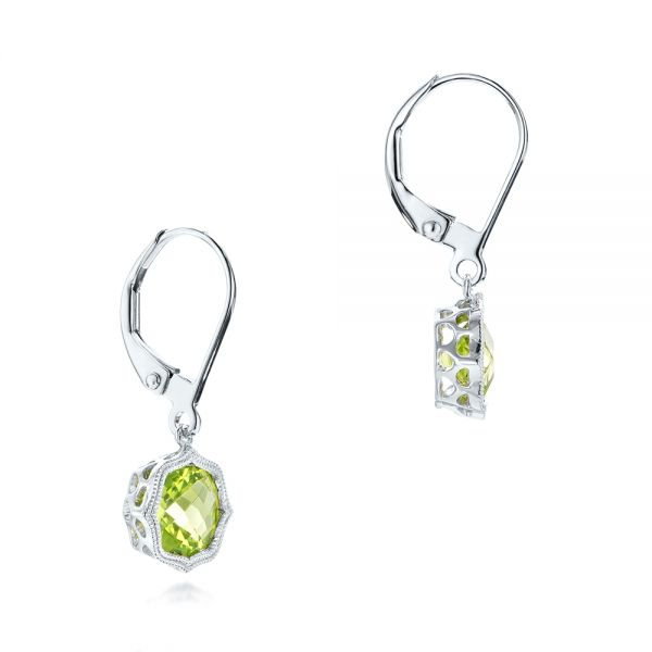 Peridot Leverback Earrings - Front View -  102544 - Thumbnail