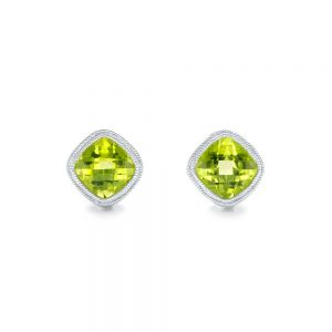 Peridot Stud Earrings - Image