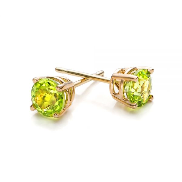 Peridot Stud Earrings - Front View -