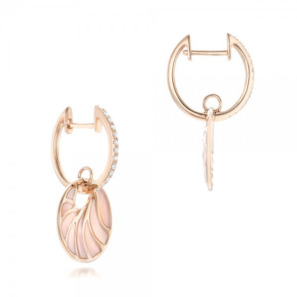 Pink Mother of Pearl and Diamond Mini Venus Earrings