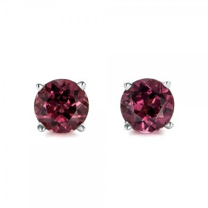 Rhodolite Stud Earrings