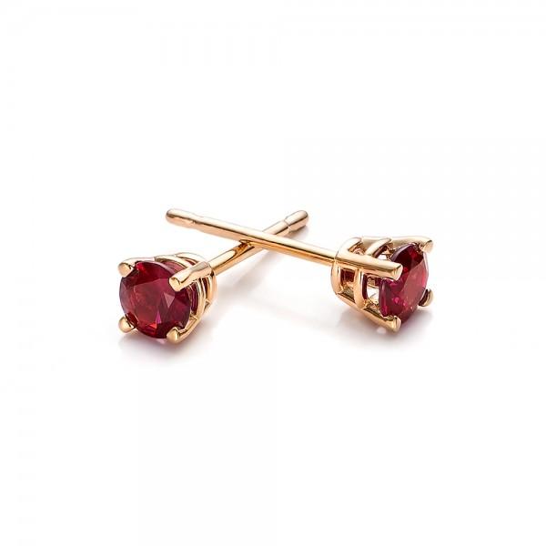 Ruby Stud Earrings - Laying View