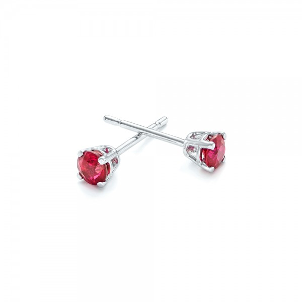 Ruby Stud Earrings - Flat View -  102626 - Thumbnail