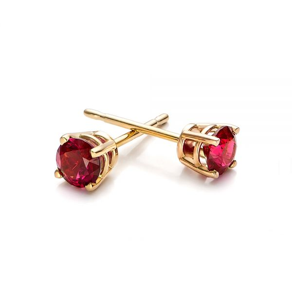 Ruby Stud Earrings - Front View -  100950