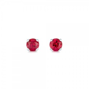 Ruby Stud Earrings