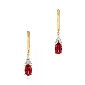 Ruby and Diamond Earrings - Image