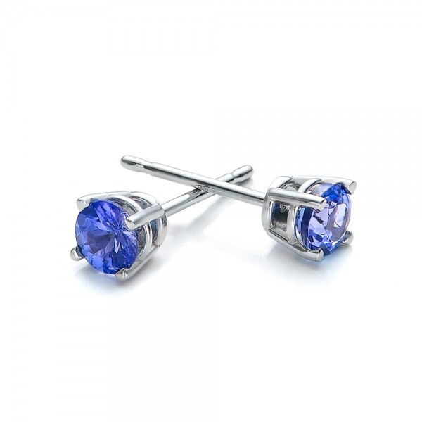 Tanzanite Stud Earrings - Laying View