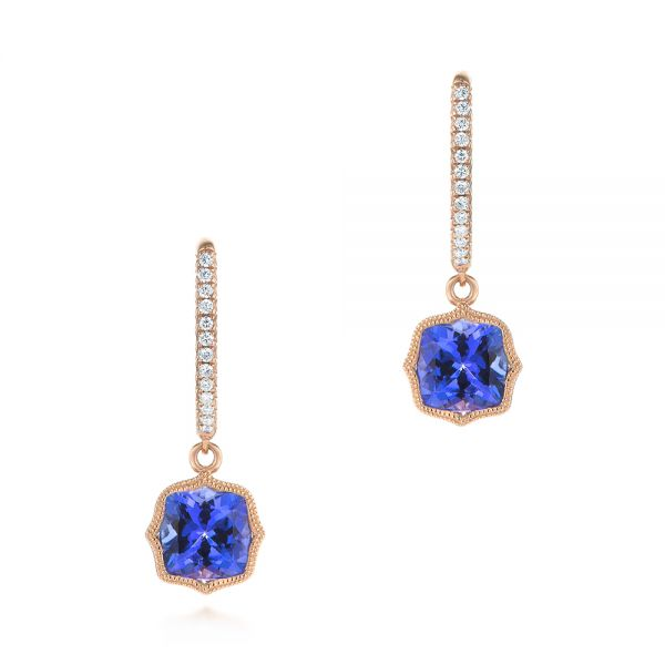 Tanzanite and Diamond Earrings - Image