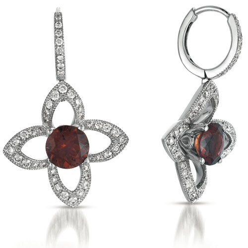 Tourmaline and Diamond Earrings - Vanna K