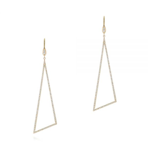Triangle Drop Diamond Earrings - Image