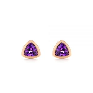 Trillion Amethyst Stud Earrings - Image