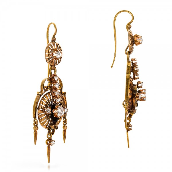 Victorian Earrings and Pendant Set - Flat View -  100735 - Thumbnail