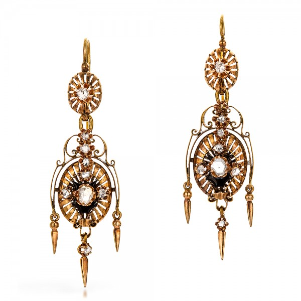 Victorian Earrings and Pendant Set
