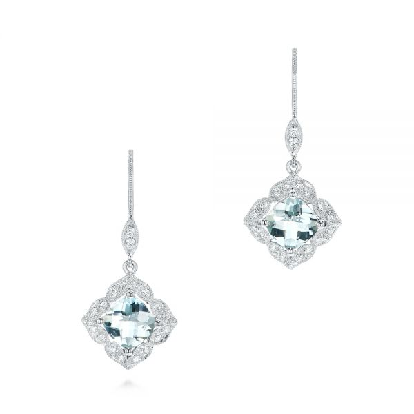 Vintage Style Aquamarine Earrings