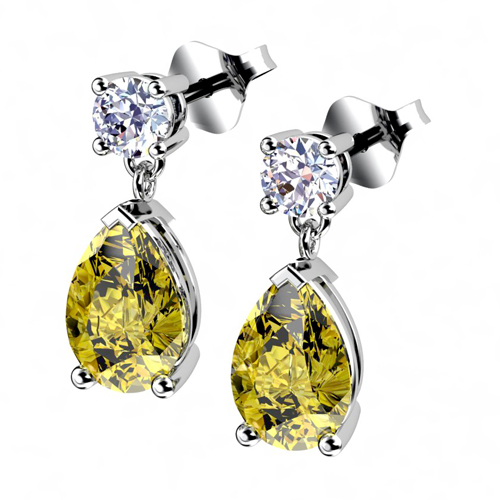 Yellow Canary Diamond Earrings