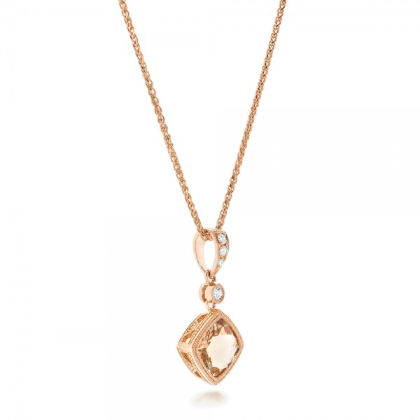 image morganite halo beverley new leaf diamond necklace milgrian gallery oval bezel k scalloped w rbc approx cut set ctw